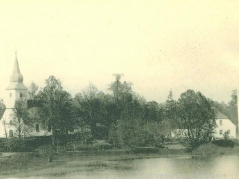 Āraišu baznīca un mācītājmuiža 20. gs. sākumā