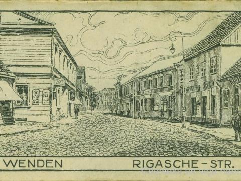 Cēsis, Rīgas iela 1918. gadā; CM 63254