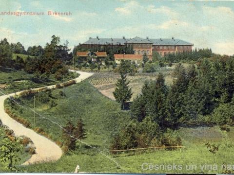 Bērzaines ģimnāzija, pastkarte nosūtīta 1913. g. oktobrī; CM 56392
