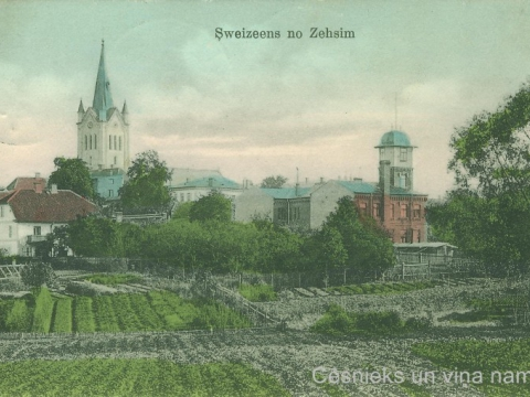 Cēsu Sv. Jāņa baznīca un A. Smilgas sanatorijas ēka, 20. gs. sākums
