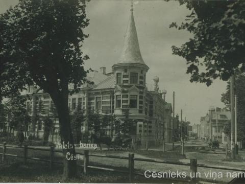 Latvijas bankas Cēsu nodaļas nams Cēsīs, Raunas ielā 1, 20. gs. 20. gados; CM 63338