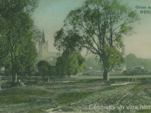 Pastkarti izdevis K. Galviņš, nosūtīta 1909.gadā; CM 63246