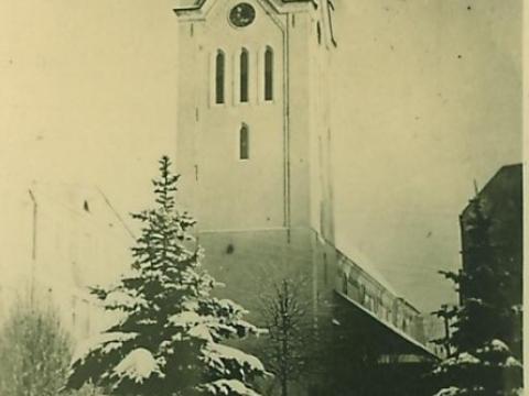 Cēsu Sv. Jāņa baznīca, foto ap 1942. - 1943. gadu