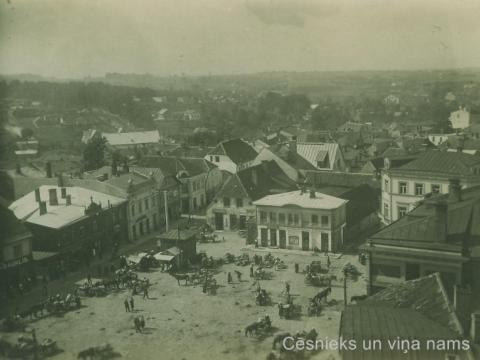Skats uz Tirgus laukumu un tirgotājiem 20. gs. 20. gadu sākumā. - CM 41417