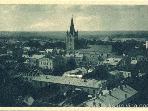 Cēsu panorāma 1942. - 1944. gadā