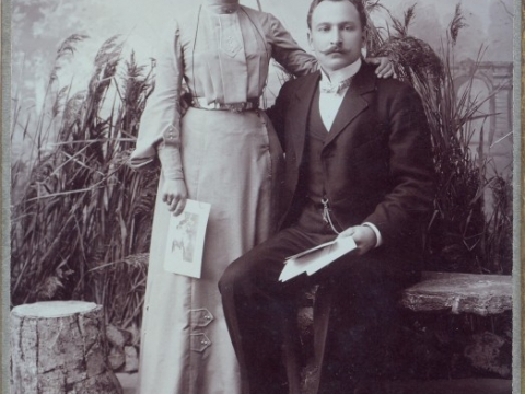 Otlija and Janis Dzilnas, begining of the 20th century; CM/F 17429