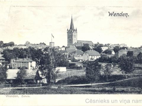 Cēsu panorāma 1907. gadā
