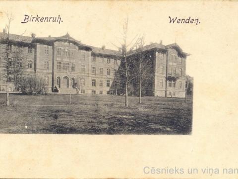 Vidzemes zemes ģimnāzijas ēka Bērzainē pie Cēsīm, 20. gs. sākums