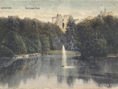 Cēsu Pils parks ap 1900. - 1913. gadu
