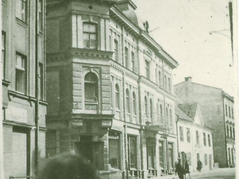 Cēsis, Rīgas iela ap 1945. - 1949. gadu