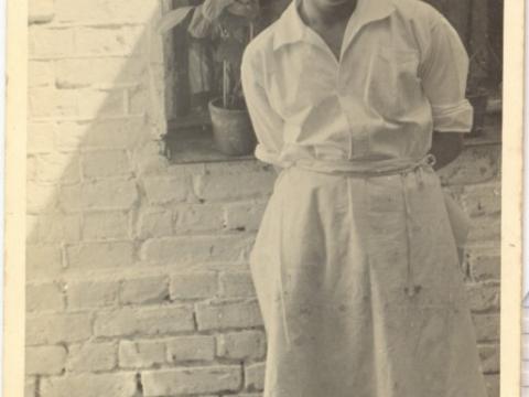 """Kafejnīcas """"Lita"""" konditors Gustavs Šūlmeistars 1934.g. 29 maijā; CM 53775"""