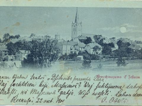 Skolotāja Jēkaba Ozola sūtīta pastkarte ; CM 27488