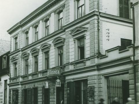 """""""Baltijas viesnīca"""" Cēsīs, Rīgas ielā 21 ap 1929. - 1935. gadu. - CM 46450"""