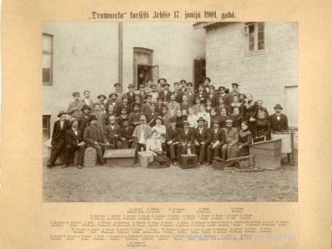 L. Borevica uzņemts foto 1901. gadā Cēsīs; CM 16485