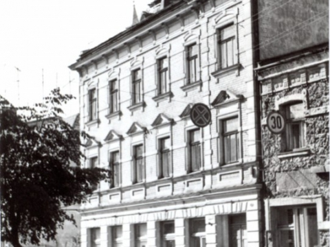 The bilding on Rigas Street, begining of the 70ties of the 20th century