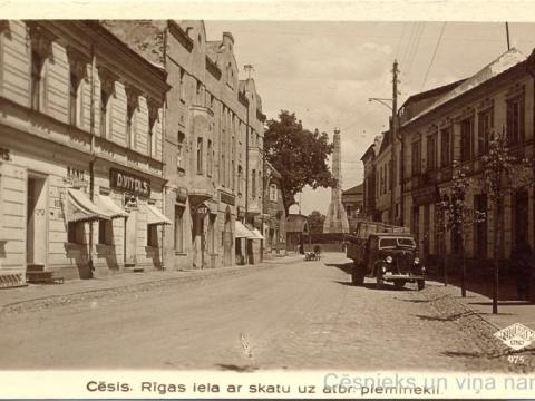 Cēsis, Rīgas iela 1937. gada 18. jūnijā.